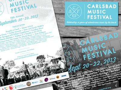 Music Festival Branding : Carlsbad Music Festival '13