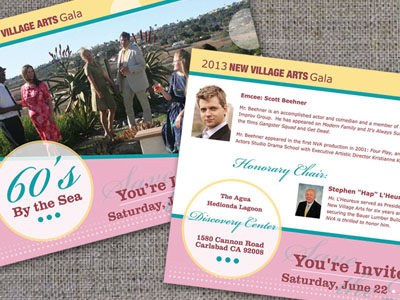 2013 Gala Invitation : New Village Arts Theatre