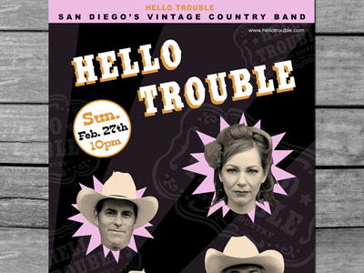 Band Poster Design : Hello Trouble