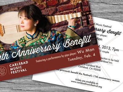 Benefit Invitation : Carlsbad Music Festival