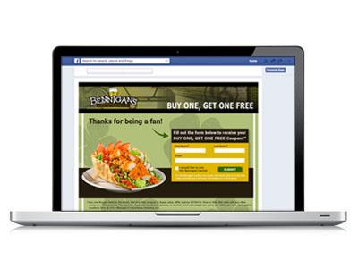 Facebook App : Bennigan's