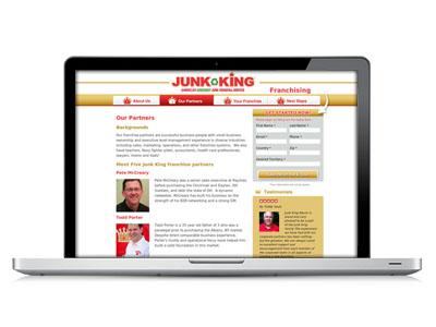 Franchise Website Design : Junk King