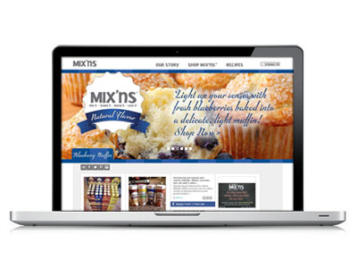 eCommerce Site Design : Mix'ns