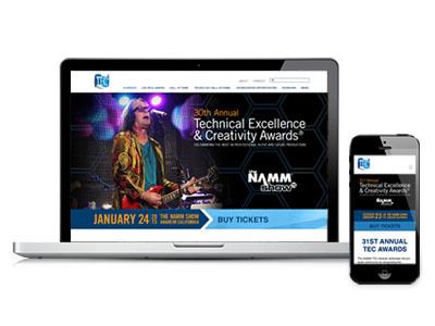 Website Design: TEC Awards